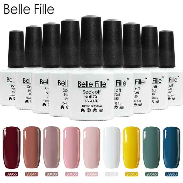 f61ce9d28a US $1.77 39% OFF|Belle Fille White Pink Color 10ml Gel Nail Polish UV Soak  Off Gel Polish Gel Lacquer Lak Nail Art Vernis Semi Permanant 40501-in Nail  ...