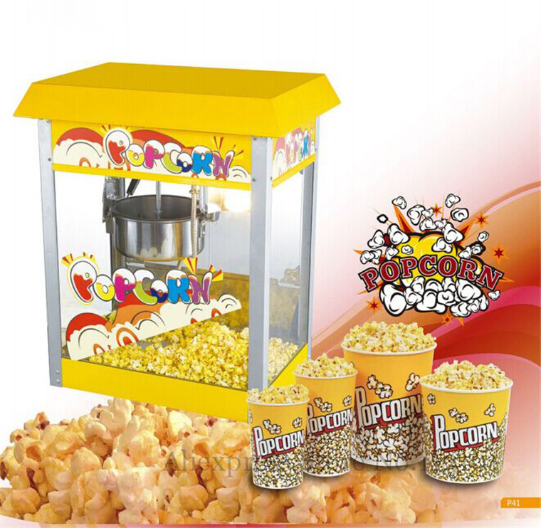 Rooftop Popcorn Maker Easy Operation Popcorn Machine Commercial Corn Popper 220V pop 06 economic popcorn maker commercial popcorn machine with cart