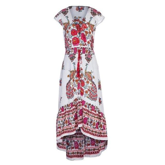 df30a545fcbd € 13.89 48% de DESCUENTO|vestidos verano 2018 vestidos largos de verano  casual vestidos tallas grandes mujer vestido largo bohemio ropa talla  grande ...