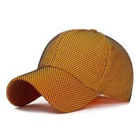 Spring and Summer Jelly Solid Baseball Cap with Mesh cover Pre curved bill Adjustable Dad Hat for Men Women Sport Pink Yellow