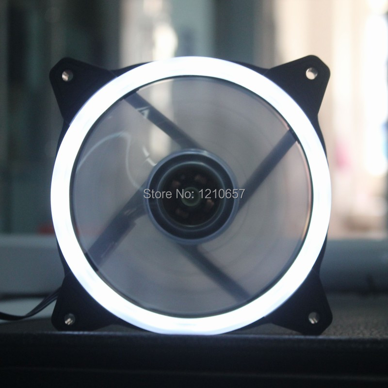 2PCS lot Quite Clear 120mm x 25mm 12cm LED White Light PC CPU Computer Case Cooling fan DC 12V 3Pin 4Pin free delivery original afb1212she 12v 1 60a 12cm 12038 3 wire cooling fan r00