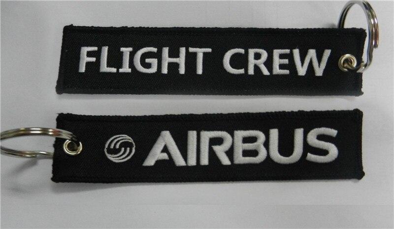 Вышитые брелок Airbus экипаж - Название цвета: RBF Blue White