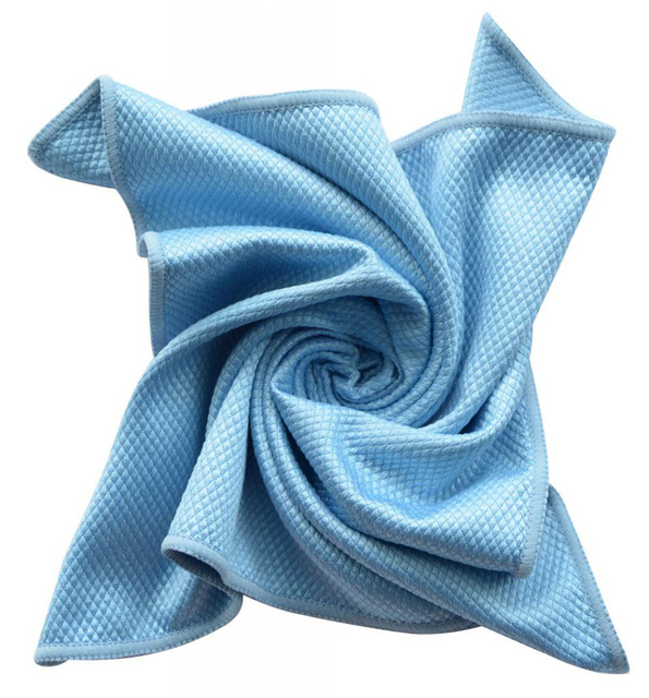 3pcs pack 15 7 x15 7 blue microfiber glass window cloths - Best cloth for cleaning windows ...