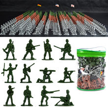 303PCS Military Plastic Soldiers Army Men Figures in 12 Poses 3 Flags Kids Toy все цены