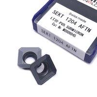 100% Originale SEKT1204 AFTN LT30 Inserto di Fresatura di Fresatura in metallo duro Utensili di Tornitura inserti sekt 1204 Lama taglierina di CNC Lavorazione