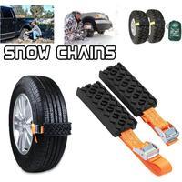 2PCS Anti Skid Chain Car Snow Chains Rubber Nylon Snow Mud Chain Saloon Car Tire Emergency Anti Skid Strap for Snow Ice Road