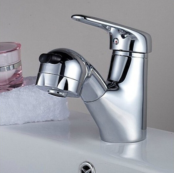 new arrival high quality brass chrome finish hot and cold bathroom with pull out shower head sink faucet basin faucet new arrival basin faucet orb sink faucet black bathroom hot and cold sink faucet basin tap mixer with pull out shower head