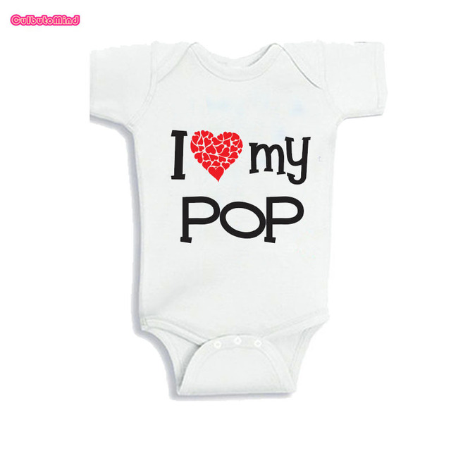 Culbutomind Cute Baby Body Suits I Love My Pop Pop Baby Clothes Funny Baby Jumpsuit Baby