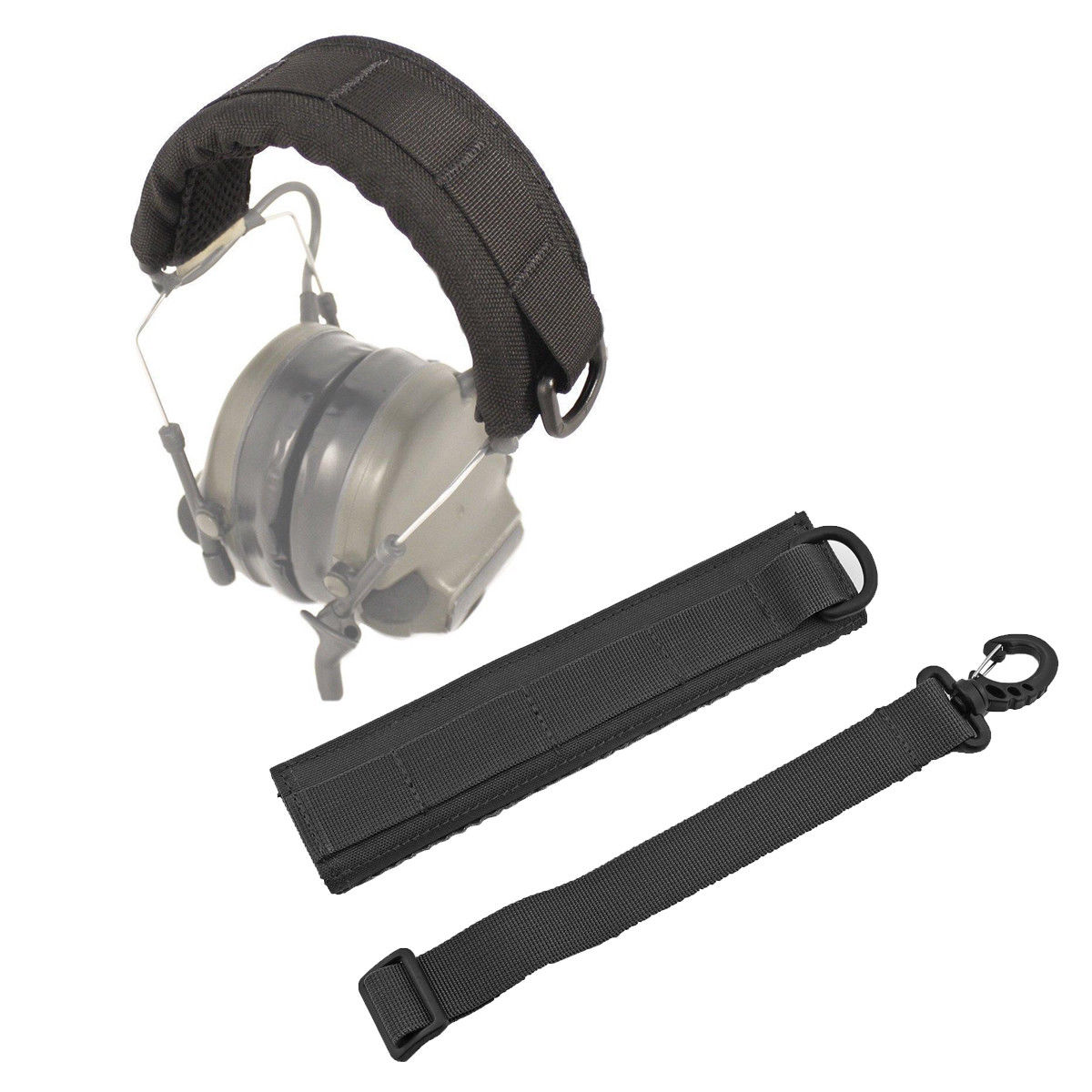 Tactical Earphone Cover Advanced Modular Headset Cover Molle Headband for General Tactical Earmuffs Hunting Accessories-in Holsters from Sports & Entertainment