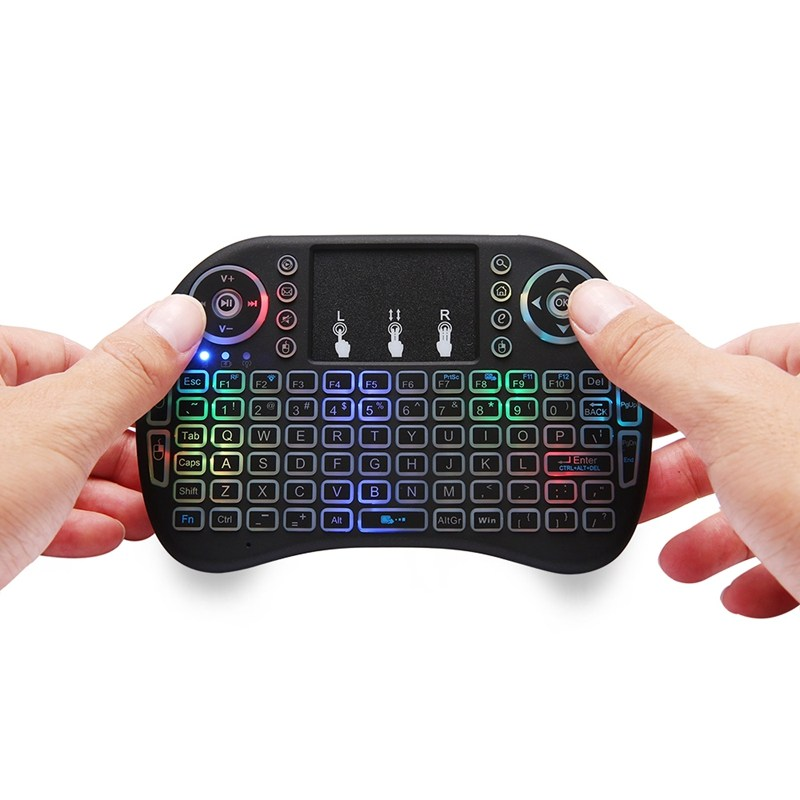 MINI Wireless i8 PLUS Air Mouse 2.4GHz English Keyboard Remote Control Touchpad for Tablet Laptop Android TV BOX Mini PC