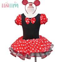2015 New Girls Dress Summer Retail Minnie Mouse Dress Mini Mouse Costume Ballet Tutu Dress Ear