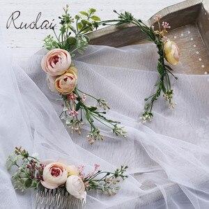 Image 1 - Vintage Wedding Headband Flower Wedding Hair Comb Bohemia Wedding Jewelry Handmade Hair Pieces for Women  Flower Headwear HD26