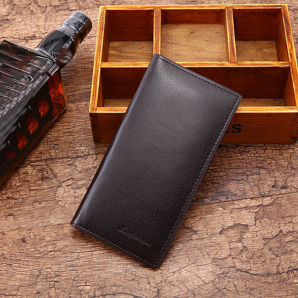 Man Wallet Leather Concise Money Bag Huge Capacity Purse Card Holder Men Wallets Carteira Portfel Cartera Hombre ??????? 6