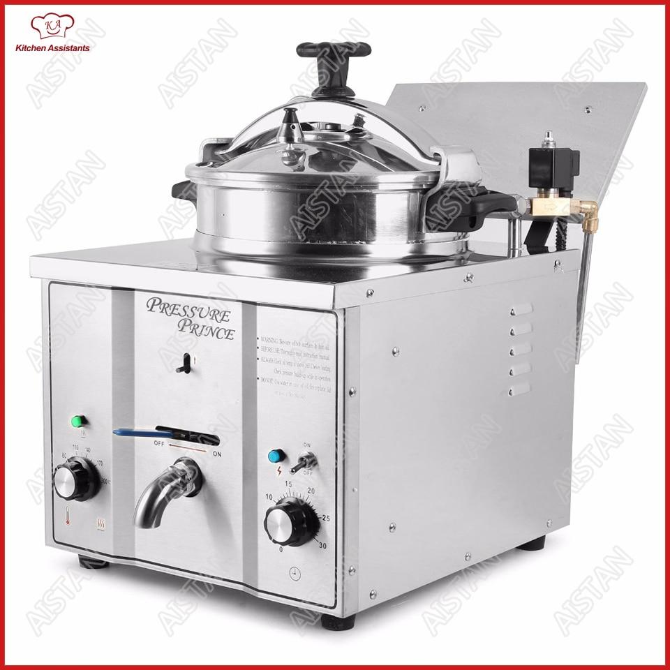 MDXZ16 мини-счетчик топ Электрический давления фритюрница картофеля масла фритюрница для KFC коммерческие кухня ресторан
