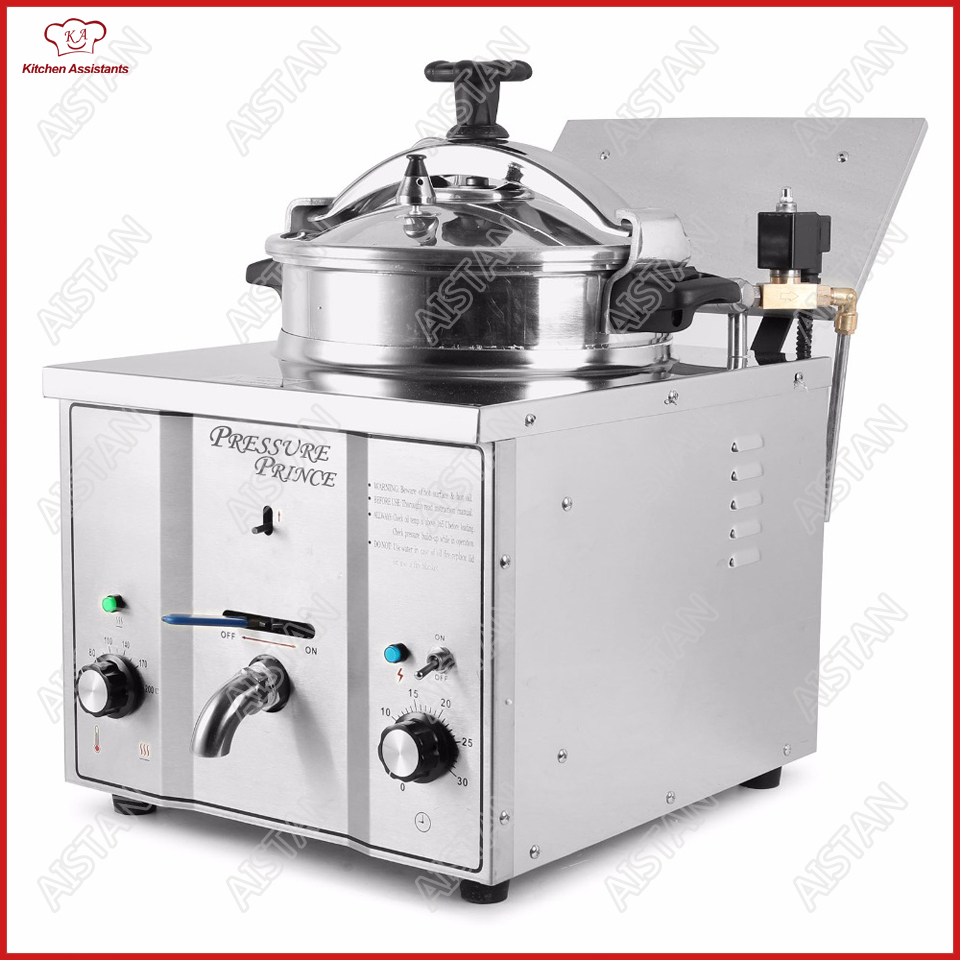 MDXZ16 mini counter top electric pressure fryer chicken potato oil deep fryer for KFC commercial kitchen restaurant hy81 hy82 6l 12l stainless steel electric deep oil fryer potato chip fryer