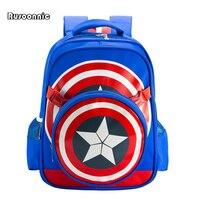 Супергерой рюкзак Капитан Америка щит Сумки Эсколар Bagpack Школьные ранцы нейлоновых композитных Рюкзаки