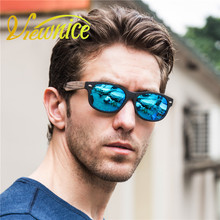 2017 Sun Glasses For Mens Polarized Sunglasses Oversized Man Retro Wrap eyewear Brand Designer Black Wooden Sunglasses Acetate
