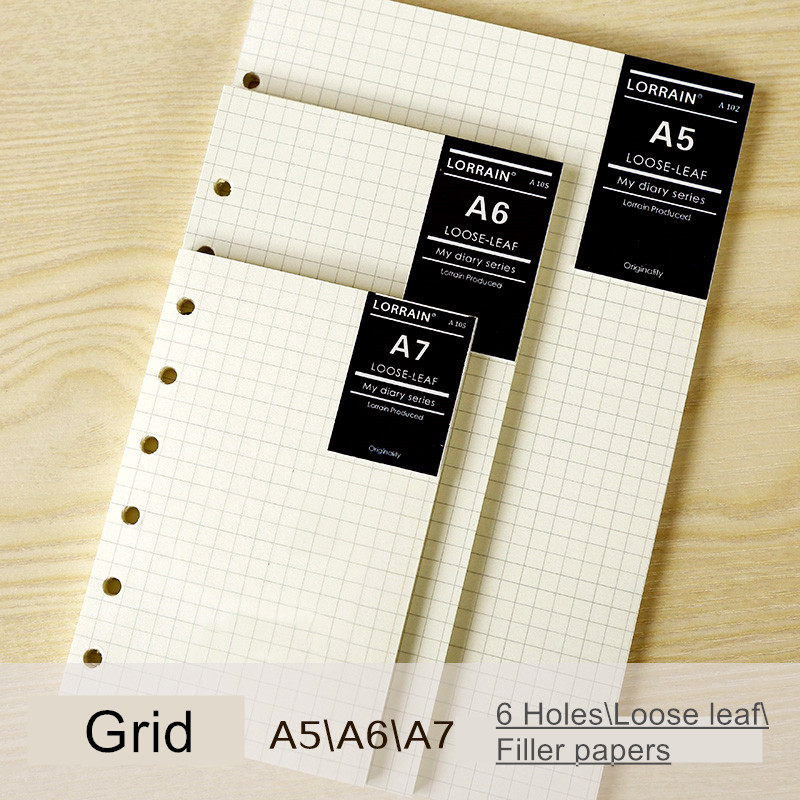 Papers Loose-leaf Notebook Refill Filofax A5 A6 Hardiron Mesh Daily Memos Paper Spiral More Papers For Notebook Filler Papers