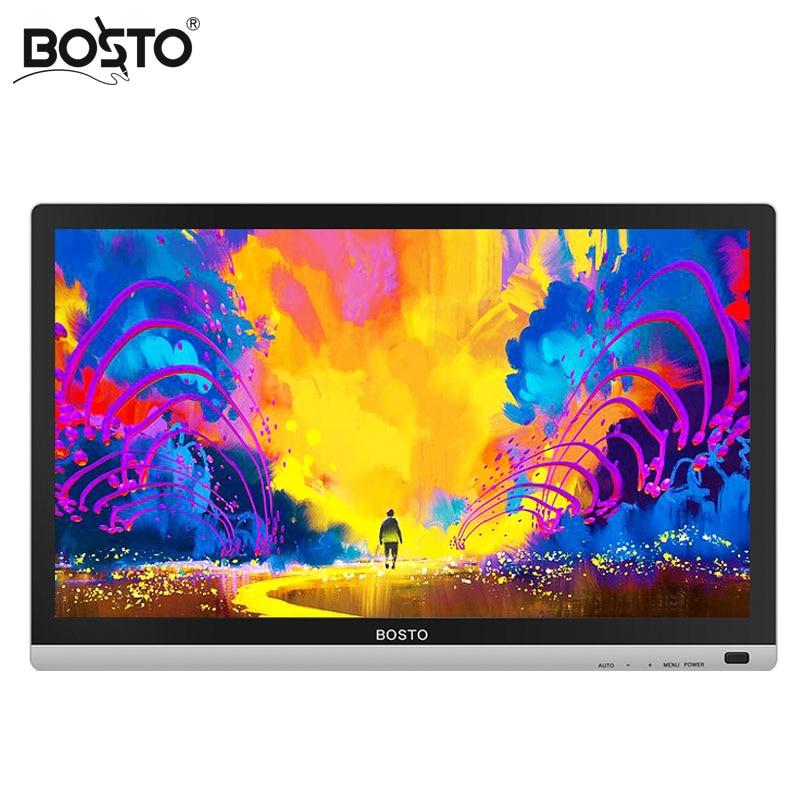 BOSTO 22 UMini 21.5in Full HD Profissional Arte Gráfica Tablet Monitor para Desenhar 8192 Níveis Caneta e Artista Desenho Luva e Stand