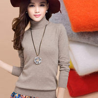 2016 Cashmere Sweater Women Sweaters Fashion Autumn And Winter Womens Sweater And Pullovers Turtleneck Wool Knitted