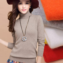 2016 Cashmere Sweater Women Sweaters Fashion Autumn and Winter Womens Sweater and Pullovers Turtleneck Wool Knitted Sweater W794