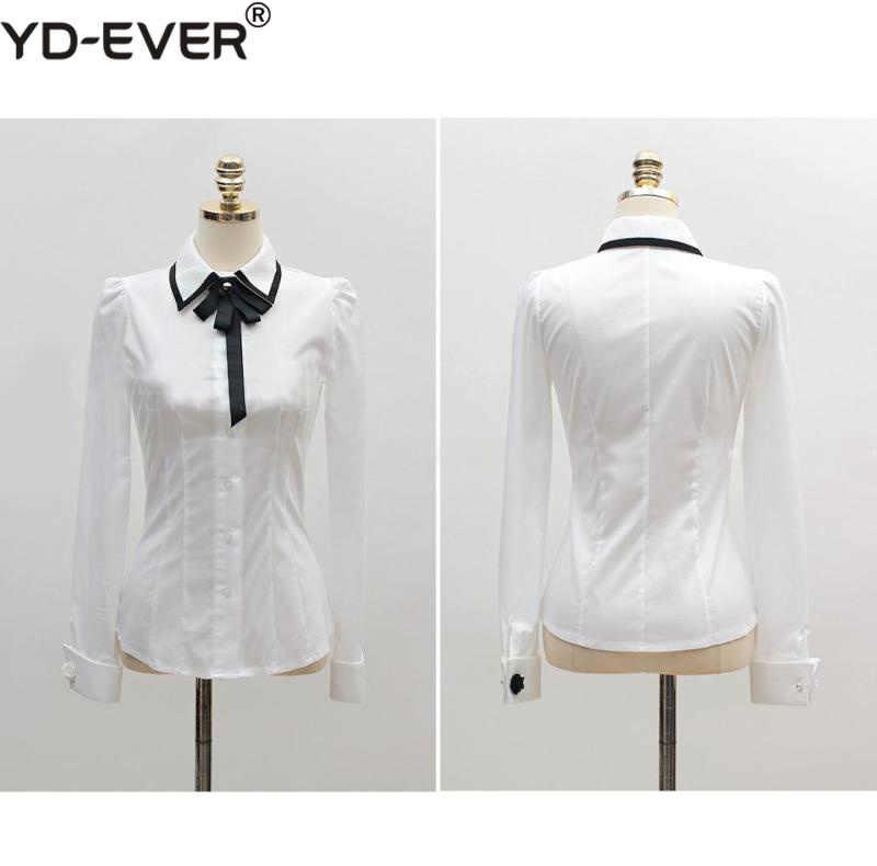 Весенние комплекты из 2 предметов для женщин, хлопковая белая рубашка с бантом, блузка и юбка, комплект, тонкий кружевной подол, неправильная работа, черная юбка-карандаш, костюм