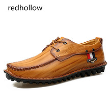 Men New 2019 Casual Shoes Genuine Leather Spring Summer Flat Shoes for Men Lace Up Comfort Shoes Drop Shipping genuine leather men casual shoes wool fur warm winter shoes for men flat lace up casual shoes men s flat with shoes fashion