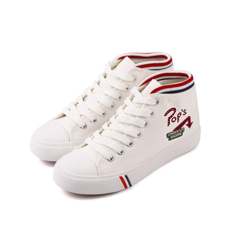 Riverdale Print Cartoon high top double-layer canvas sneakers student Customized fashion plimsoll shoe A193111