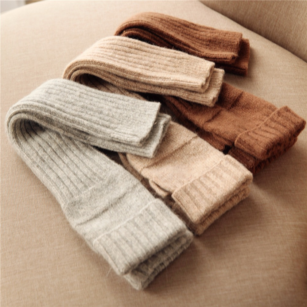 2019 Autumn Winter Women Knitted Wool Gloves Elegant Sweet Lady Fingerless Mittens Thermal Half Finger Long Arm Warmers T221