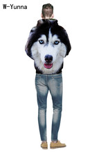 W-Yunna 2018 Creative Husky 3D Print Loose Plus Size For Men Or Women