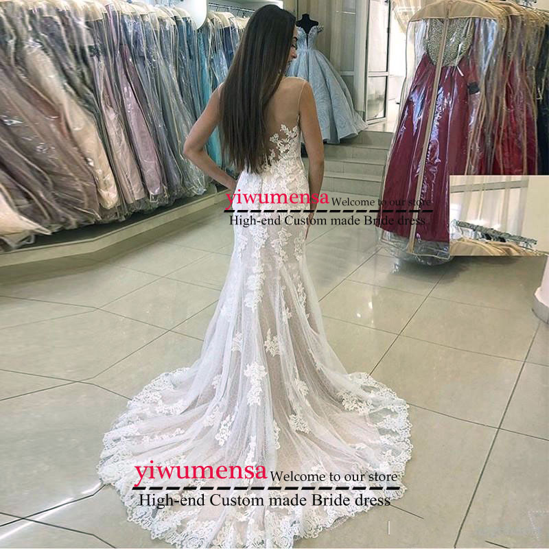 Vestido De Noiva Curto Boho Wedding Dress With Moved Skirt Bridal Gowns Robe De Mariee Mermaid Tulle Wedding Dresses Custom Made