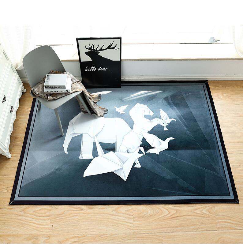 100*150 Cm Nordic Grande Elefante Tigre Flanella 3d Disegnati Animale Tappeto Strisciando Pad Addensare Stuoia Del Gioco Non- Tappeto Antiscivolo Tappeto Coperta Tapis Fabbricazione Abile