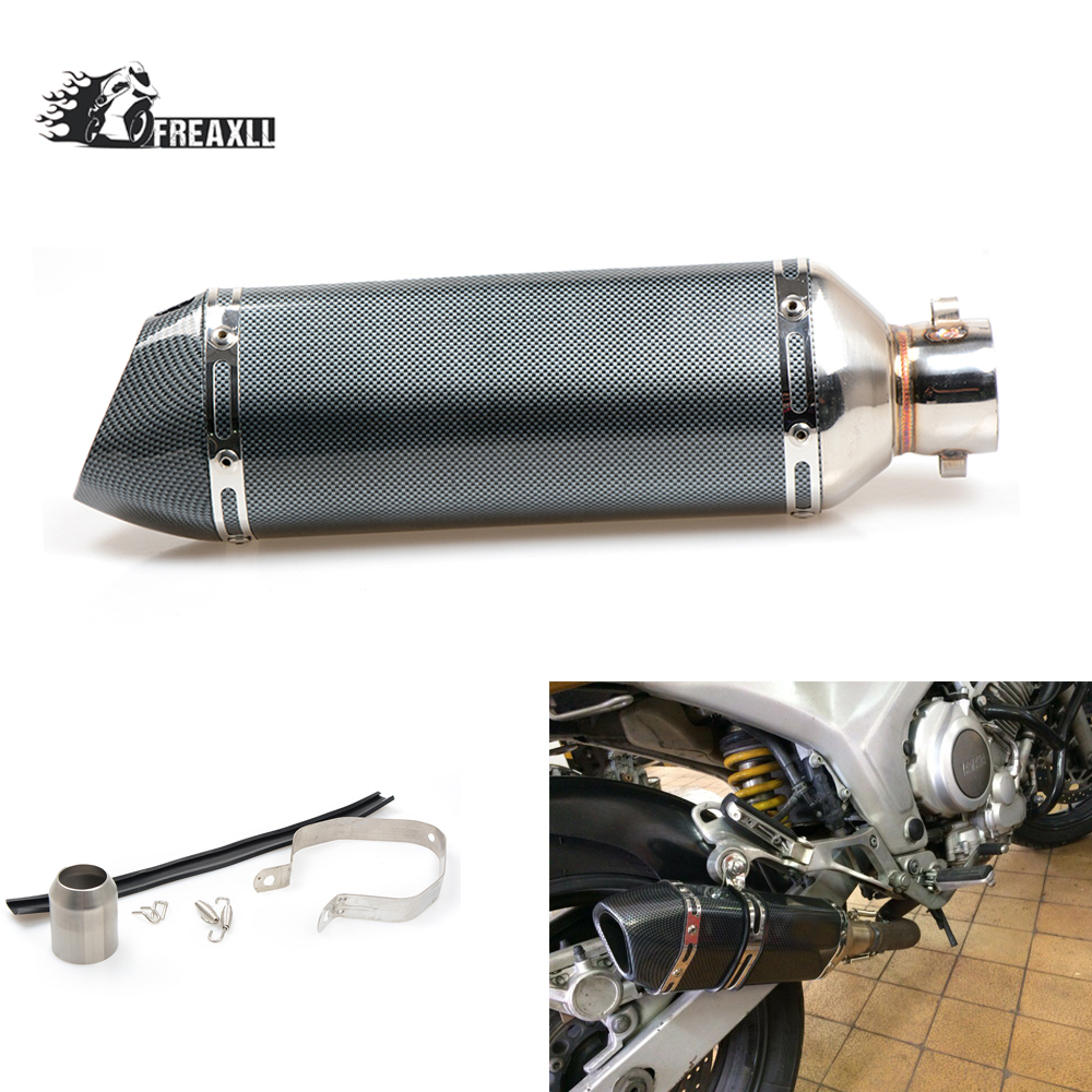 36MM-51MM Universal exhaust pipe motorcycle Muffler Escape Slip-On Pipe Fit Motorbike For YAMAHA YZF R125 Honda MSX NC700 CB500 все цены