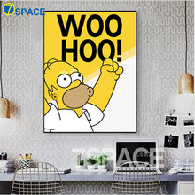 7-Space Modern The Simpsons Anime Father's Pet Phrase Wall Art Print Poster Canvas Painting For Kids Room Wall Pictures Decor