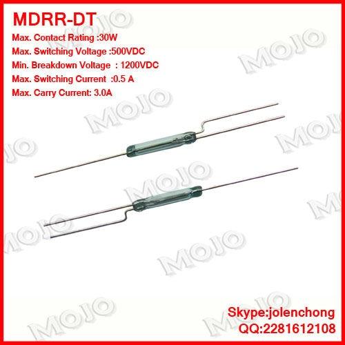 Free shipping!! Free Shipping MDRR-DT U.S HAMLIN N.C/N.O Green glass 3 feet reed switches
