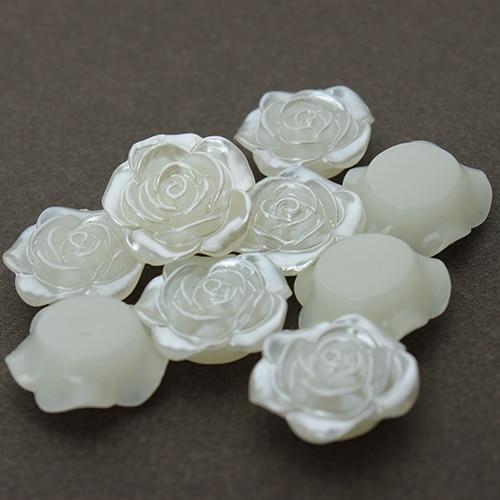 20 шт./лот 18 мм имитация Flatback жемчужные Бусины белый цветок смолаы кабошон жемчуг для телефона украшения DIY ювелирных изделий f1569