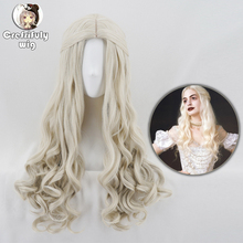 Alice in Wonderland 2 White Queen Cosplay Wig Blonde Wavy Long Synthetic Hair Heat Resistance Fiber Halloween Party Costume Wigs