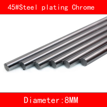 2pcs 45#Steel electroplate chrome linear shaft diameter 8mm length 100mm-500mm 3d printer part cnc linear rail shaft 1pc linear shaft optical axis bearing steel outer diameter 8mm x length 300mm for cnc parts