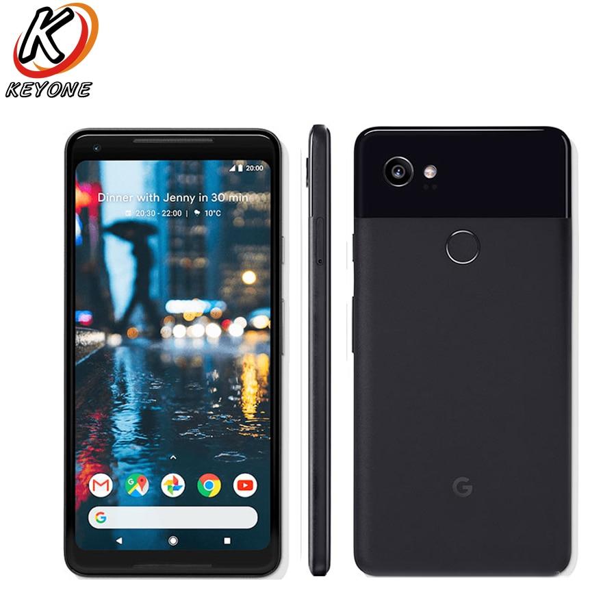 L'UE Version original nouveau Google Pixel 2 XL 4g LTE Téléphone Portable 6.0 4 gb RAM 64/ 128 gb ROM octa-core Android 8.0 D'empreintes Digitales Téléphone