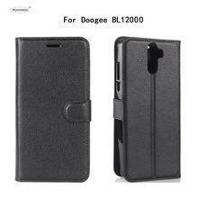 HUDOSSEN For Doogee BL12000 Case Luxury PU Leather Back Cover Coque For Doogee BL12000 Pro Case Flip Protective Phone Bags Skin стоимость