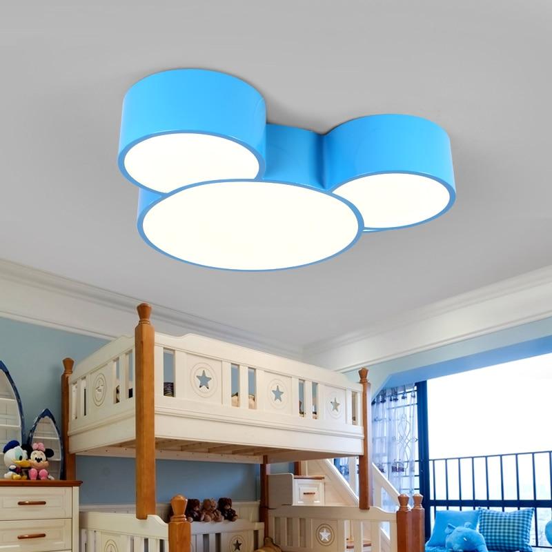 Online Led Mickey Mouse Children S Bedroom Lamp Kindergarten Color Study Room Ceiling Lights Amut Park Cartoon Light Aliexpress