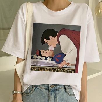 New Women's Dark Snow White Harajuku T Shirt Woman Casual Short Sleeve Tshirt Funny Print T-shirt Ullzang Summer Top Tees Female