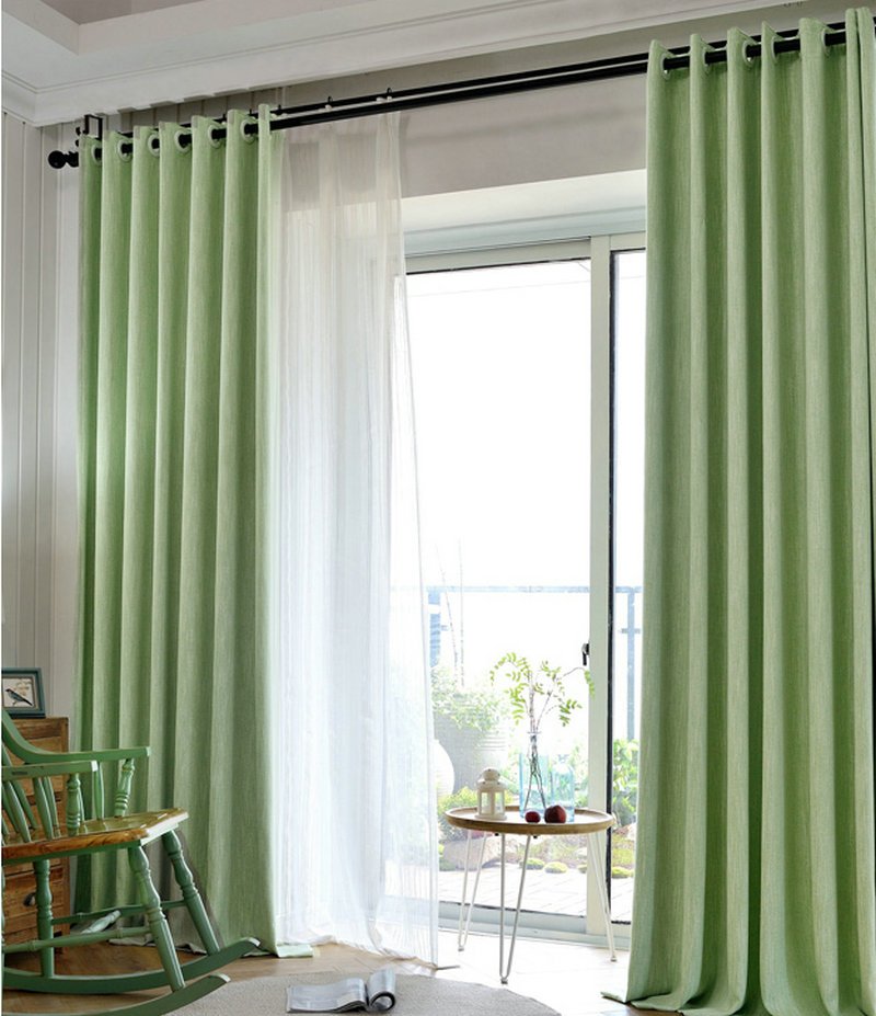 Luxury Linen Cotton Blackout Curtains For Living Room