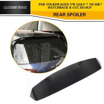 פחמן רכב סטיילינג אוטומטי האחורי גג כנפי שפתיים עבור פולקסווגן גולף VII 7 GTI & R Hatchback 2014- 2017