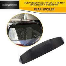 Carbon Car Styling Rear Spoiler Auto Roof Lip Wings for VW Golf VII 7 GTI & R Hatchback 2014-2017