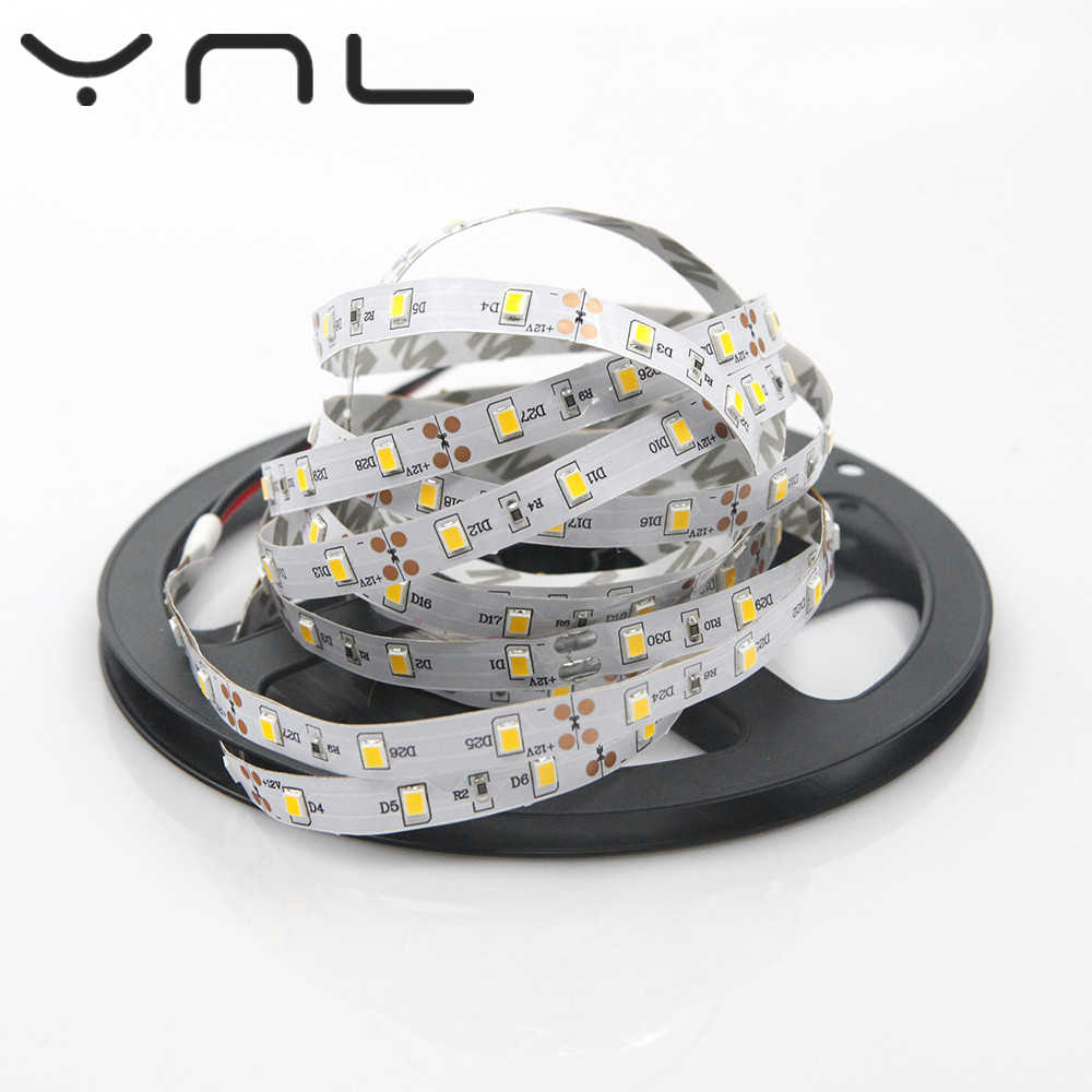 YNL RGB LED strip Light IP20 cold warm white blue green red 5m 300LEDs SMD 2835 12V LED Non Waterproof fita  LED String  Ribbon