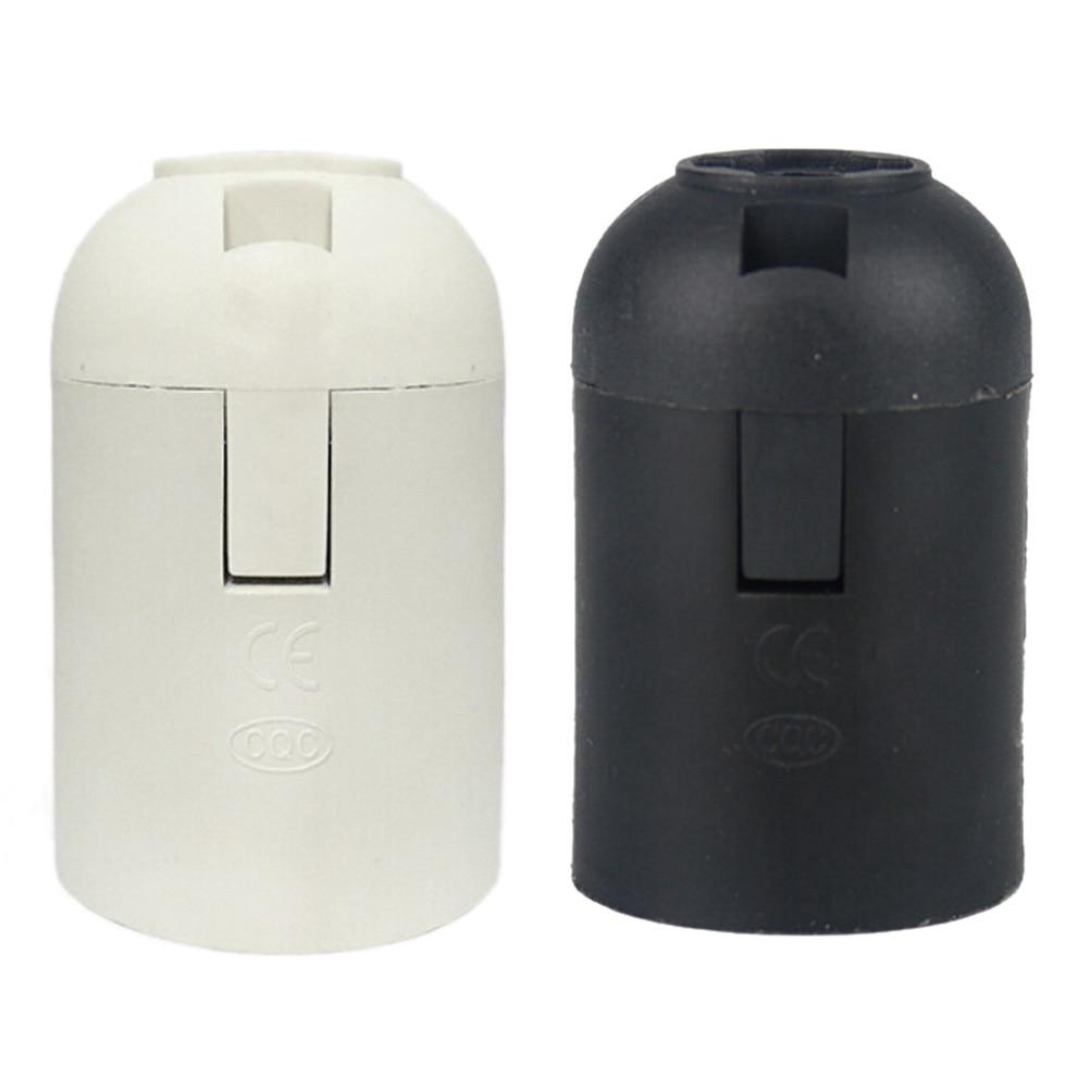 1PCS Small Screw E27 Alastic Socket Light Bulb Lamp Light Holder Lamp Accessories 2 Colors