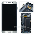 2pcs test good LCD screen display digitizer with frame For Samsung galaxy S6 egde plus g928f g928p 100% original freeshipping