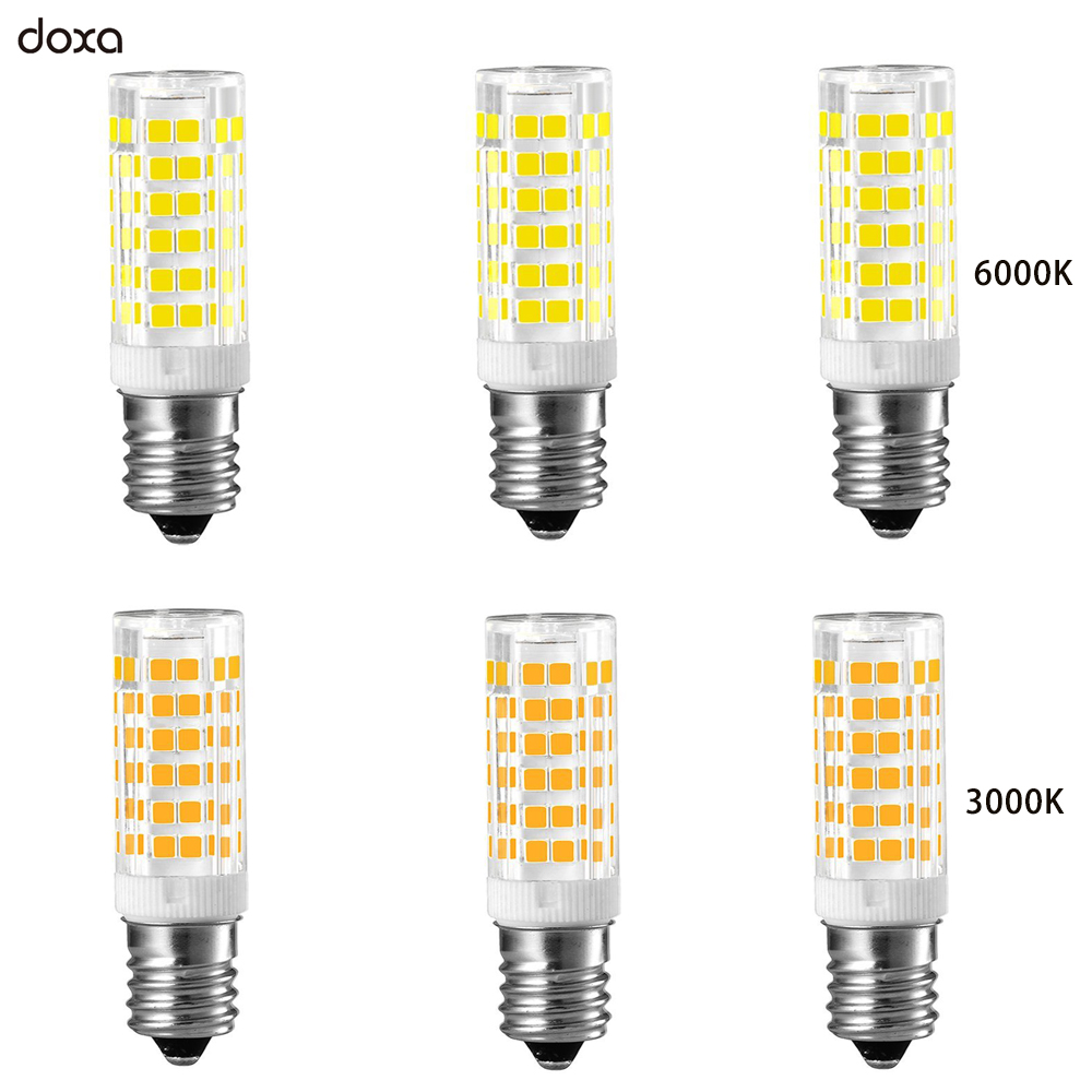 6 Pack E14 LED Bulb 5W 220V 110V LED E14 Lamp Energy Saving Corn Light Bulbs 75LED SMD 2835 3000K 4000K Replace 40W Halogen Lamp