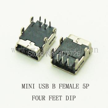 10 sztuk Mini USB złącze żeńskie Mini USB 2 0 mocy łącze typu jack typu B 5pin DIP 4 stopy DIP tanie i dobre opinie CN (pochodzenie) USB 4Feet DIP 5Pin DIP